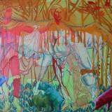 MIĘDZY KULTURĄ A NATURĄ, 2013, technika mieszana,50 - 70 cm