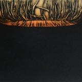 Medytacja I, collografia, wypukłodruk, 20 - 15 cm, 2011
