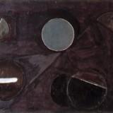 Obraz brązowy z kołami, 1958
