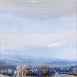 Z cyklu Wędrówki - W stronę błękitu, 2009, technika własna, 21,5 x 20.............