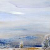 Z cyklu Wędrówki - W stronę błękitu, 2009, technika własna, 21,5 x 20.......