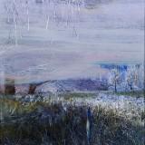 Z cyklu Wędrówki - W stronę błękitu, 2009, technika własna, 21,5 x 20