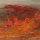 Z cyklu Wędrówki - Na Górze Synaj, 2006, technika własna, 22,5 x 23,5