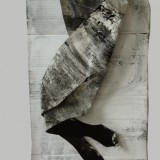 Bez tytułu, akryl, tekstura, papier, 140 cm x 40 cm, 2016