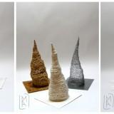 Tryptyk Drewno Papier Metal 2010