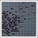 Strefy II drewno, akryl, 60x60, 1965