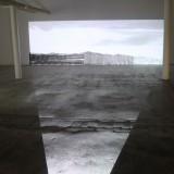 Przestrzeń III, Chmury, instalacja video-malarska