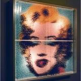 Marylin, Andy'emu, Ameryce, ...For Marilyn, Andy and Ameruca...90.5 × 90,5 × 16 cm. 1998 © K. Cichosz.