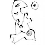 A.R.C.H.E. -TANIEC, 2012, tusz na papierze
