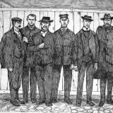 Bojownicy 1905 roku, akwaforta, z cyklu Rudery