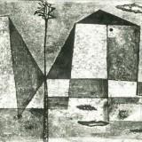 Pejzaż miejski, techika: monotypia, 1958
