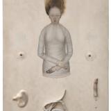 Bez tytułu, 2005, deska  relief w zaprawie kredowej, olej, 70x47cm