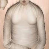 Bez tytułu, 2003, płótno, olej  92x50cm.