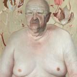 """""""Portret ojca"""", 2003, płótno, olej , 73x50cm. (kolekcja Muzeum Sztuki w Łodzi)"""