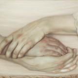 Bez tytułu, 2006, deska, zaprawa kredowa, olej, 23x59,5cm. (kolekcja prywatna)