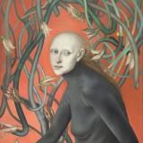 Bez tytułu, 2001 płótno,olej 81x65cm. (kolekcja Muzeum Sztuki w Łodzi)