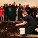 eksperyment z zasiewem i głosem, Galeria Manhattan, 11.01.2013