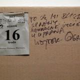 eksperyment z zasiewem i głosem , Galeria Manhattan, 16.01.2013 fot. Andrzej Grzelak