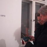 """""""Łukasz Ogórek"""", Galeria Wschodnia, Łódź 2007  instalacja dźwiękowa, interaktywna"""