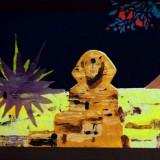 Powidok (Egipt), akryl na płótnie, 2008